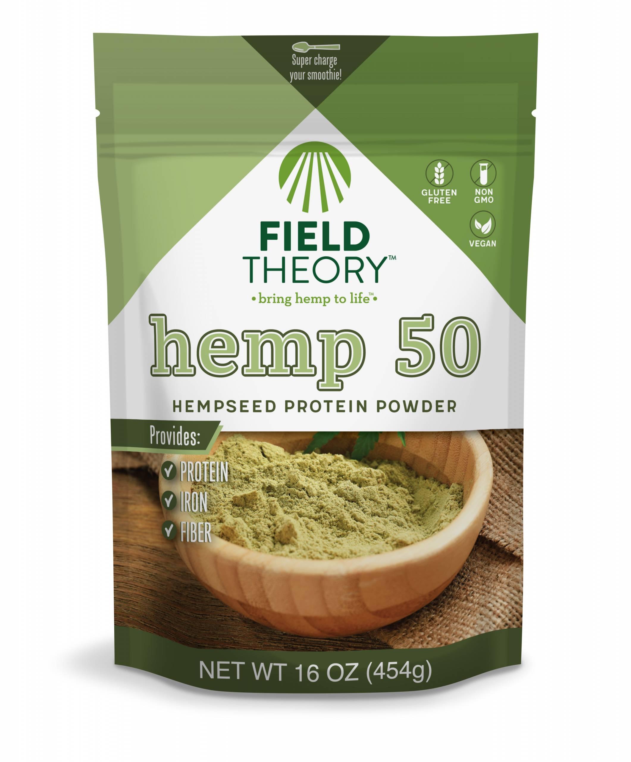 Field Theory Hemp 50 Protein Powder 16 Oz Field Theory Hemp